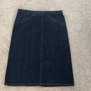 Theory jean pencil skirt